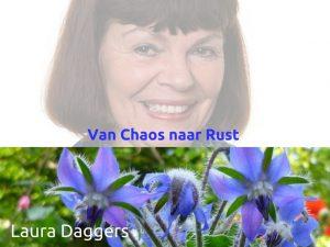 Laura Daggers - Van Chaos naar Rust
